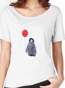 baby penguin with a balloon Women's Relaxed Fit T-Shirt
