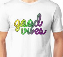 Good Vibes Purple Green Gold Unisex T-Shirt