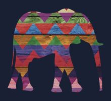 Chevron Elephant Pattern on Wood by Nhan Ngo