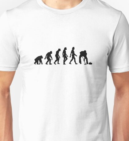 The Evolution of Curling Unisex T-Shirt