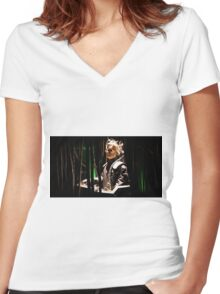 Davros creator of the Daleks Women's Fitted V-Neck T-Shirt