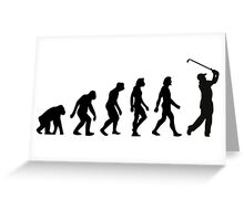 The Evolution of Golf Greeting Card