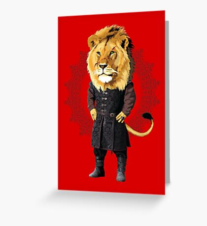 Lion Tyrion Greeting Card