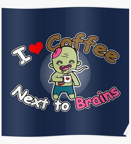 Coffee Zombie Poster