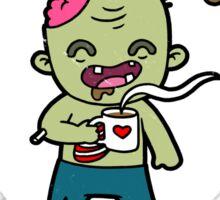 Coffee Zombie Sticker