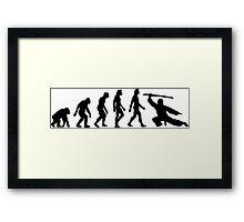 The Evolution of Martial Arts Framed Print