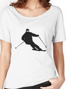 Skiing Women's Relaxed Fit T-Shirt