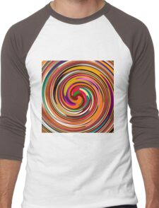 Abstract Colored Twist Art Background Men's Baseball ¾ T-Shirt