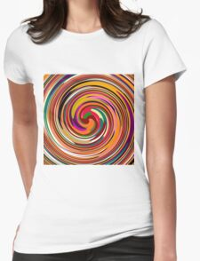 Abstract Colored Twist Art Background Womens Fitted T-Shirt