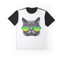 Mardi Gras Cat Graphic T-Shirt