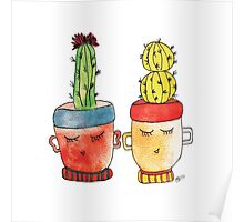 Cacti Couplet | Emma  Poster
