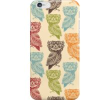 Cute Colorful Tribal Aztec Owl Pattern iPhone Case/Skin