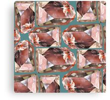 Topaz Pattern (red) Canvas Print