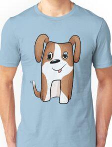 White-brown Puppy Unisex T-Shirt