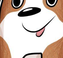 White-brown Puppy Sticker
