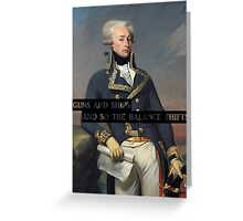 EVERYONE GIVE IT FOR AMERICA'S FAVORITE FIGHTING FRENCHMAN Greeting Card