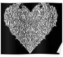 Valentines Heart Black Poster