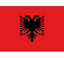 Red and Black Double Headed Eagle Flag of Albania Photographic Print