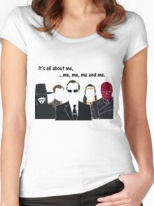 Movies - me, me, me, me and me Women's Fitted Scoop T-Shirt