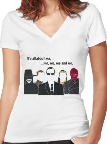 Movies - me, me, me, me and me Women's Fitted V-Neck T-Shirt