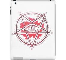 Pentagram star, circle, logo iPad Case/Skin
