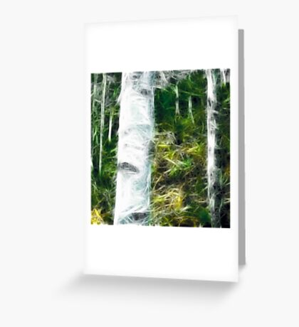 fractal of a fraction of forest Greeting Card
