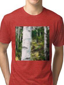 fractal of a fraction of forest Tri-blend T-Shirt
