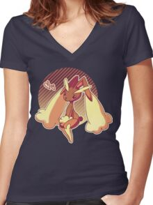 lopunny Women's Fitted V-Neck T-Shirt