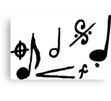 Music Notes and Symbols Canvas Print
