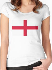 National flag of England Women's Fitted Scoop T-Shirt