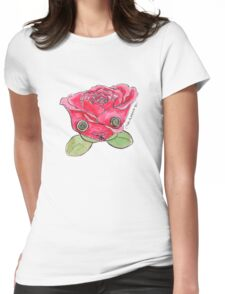 """""""Oro?"""" Valentine's Rose Womens Fitted T-Shirt"""