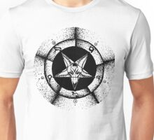 Pentagram star circle logo Unisex T-Shirt