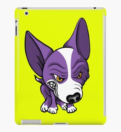 Angry Chihuahua White & Purple iPad Case/Skin
