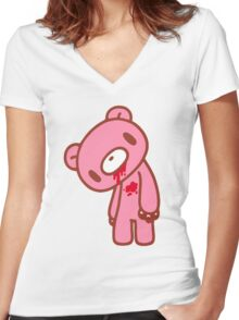 Gloomy Bear Women's Fitted V-Neck T-Shirt