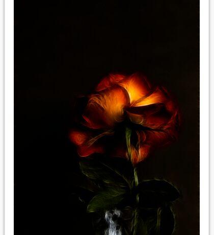 Love In (Rose) - Fractalius Sticker