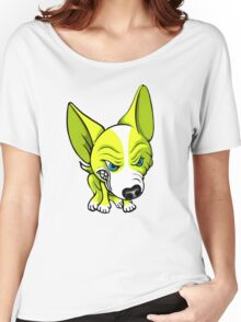 Angry Chihuahua White & Yellow Women's Relaxed Fit T-Shirt