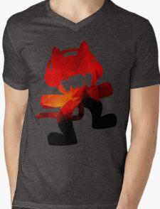 Polygon Fire Mens V-Neck T-Shirt