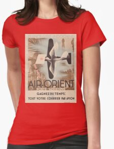 Vintage poster - Air-Orient Womens Fitted T-Shirt