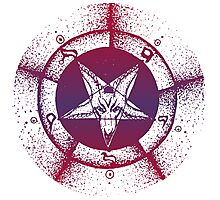 Pentagram star circle logo Photographic Print