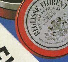 Vintage poster - Reglisse Florent Sticker