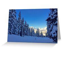 My Bachelor Ski Resort, Oregon Greeting Card