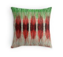 Red furry pattern Throw Pillow