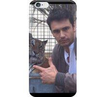 james franco with tiger iPhone Case/Skin