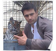 james franco with tiger Poster