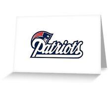 New England Patriots Logo Greeting Card