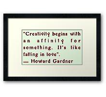 Creativity by Howard Gardner Framed Print