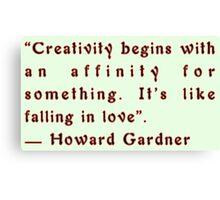 Creativity by Howard Gardner Canvas Print