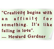 Creativity by Howard Gardner Poster
