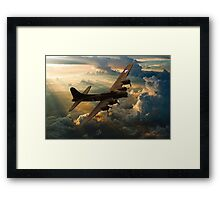 Sunset Sally Framed Print