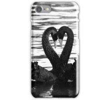 Swan sign language iPhone Case/Skin